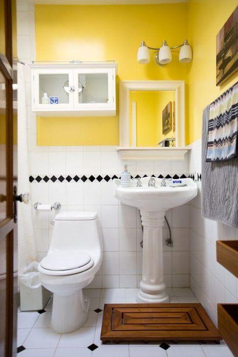 Cozy Sunny Yellow Bathroom Design Ideas