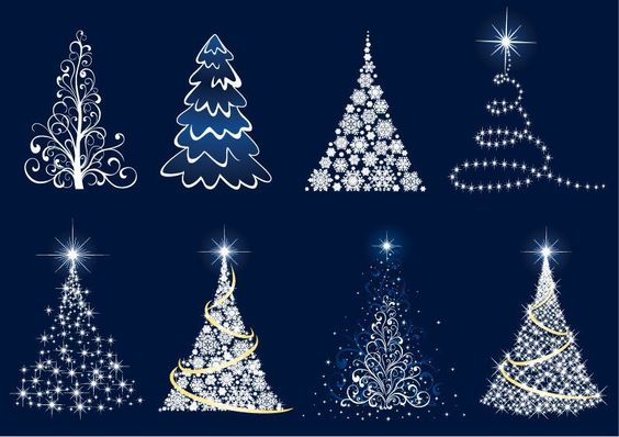 Free Christmas Clip Art | Abstract Christmas Tree Vector Set | Free Vector…: