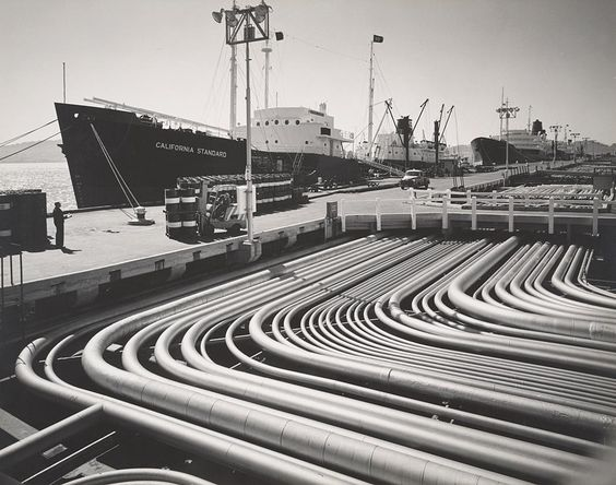 1953 Standard Oil Tanker and Depot, Richmond, California by Ansel Adams 84.90.75
