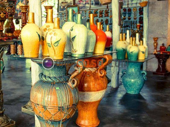 Decoracion Jarrones De Barro ~ jarrones de barro y yeso construidos en artesania cibae?a  Jarrones