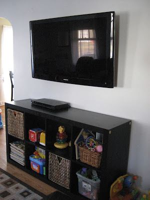 how to mount a big screen tv to the wall without the cords showing clever tips and ideas. Black Bedroom Furniture Sets. Home Design Ideas