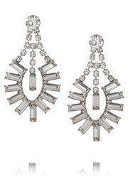 Tom BinnsFaux Real silver-plated Swarovski crystal earrings