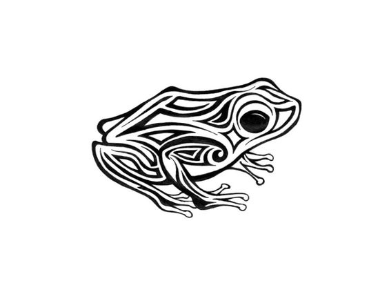 Free Designs Tribal Frog With Big Eyes Tattoo Wallpaper - Free ... - ClipArt Best - ClipArt Best