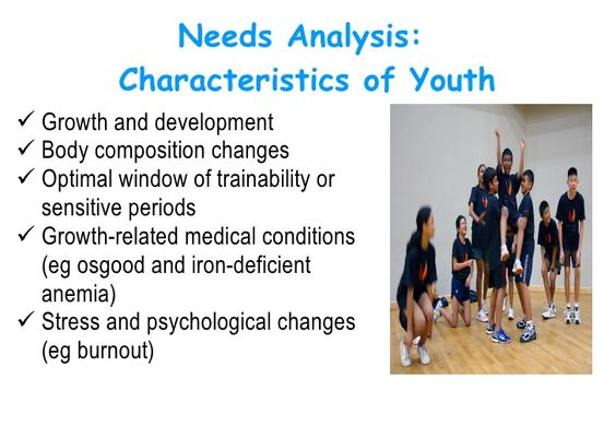 Needs Analysis Characteristics of Youth u003culu003eu003cliu003eGrowth and - needs analysis