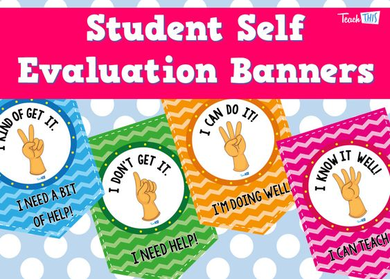Student Self-Evaluation Posters Classroom Display  Organisation