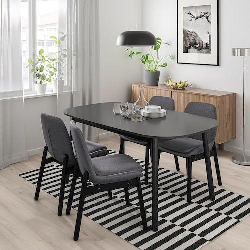 Vedbo Dining Table Black Ikea Dining Table Black Dining Table Dining Room Small