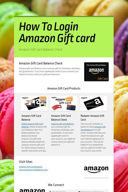 How To Login Amazon Gift Card How To Login Amazon Gift Card Amazon Amazongiftcard Card Coolbedforboys Gift Amazon Gift Cards Amazon Gifts Gift Card