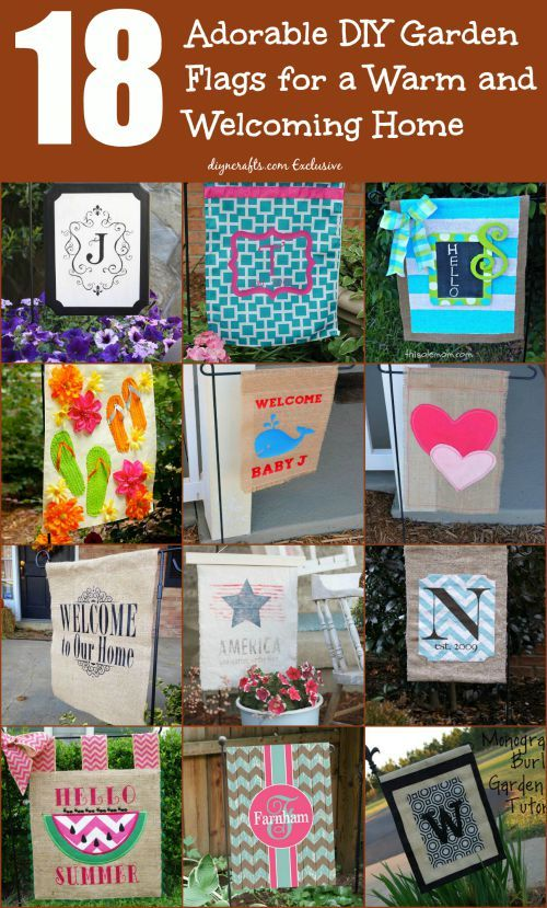 18 Adorable DIY Garden Flags for a Warm and Welcoming Home Wow, impressive ideas and projects!