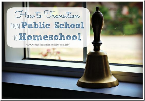 Practical tips for parents who are removing their kids from public or private school to begin homeschooling.