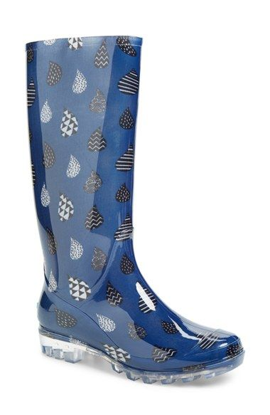 Free shipping and returns on TOMS 'Cabrilla' Print Rain Boot ...
