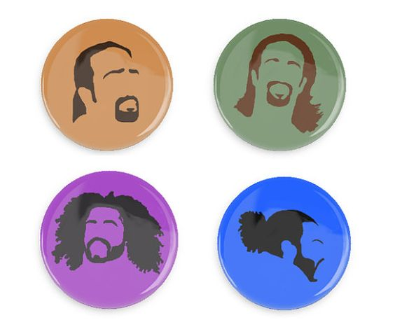 Hamilton Pin Buttons Faces of Hamilton Lafayette by HamilCrafts
