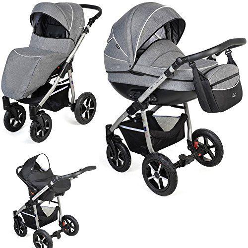 Clamaro Baby Boat 2018 3 In 1 Premium Kombi Kinderwagen Mit Grossen Radern 10 Farben Inkl Maxi Cosi Babyschale Sp Kinderwagen Kinder Wagen Kombikinderwagen