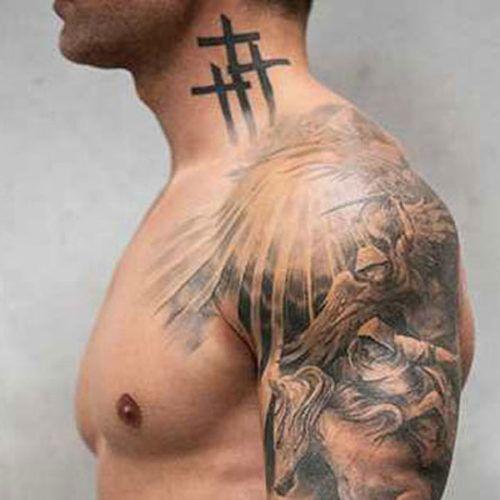 Cool Sleeve Cross Tattoos For Guys Cross Tattoo For Men Cross Tattoo Tattoos For Guys