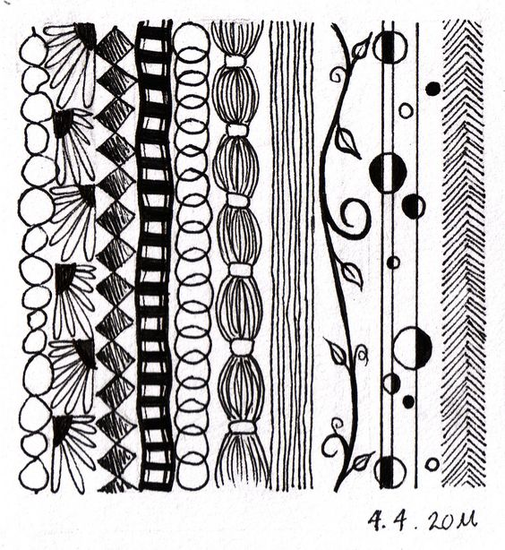 Drawing Ideas With Lines: Not Technically A Zentangle, But Some Great Ideas For