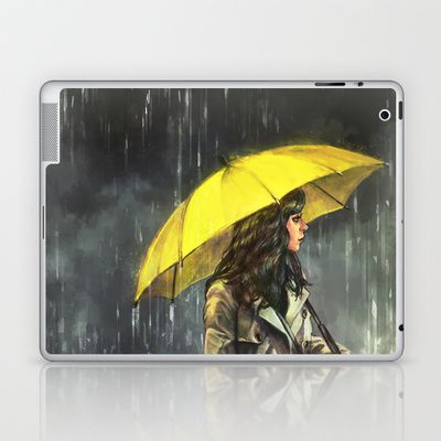 All Upon the Downtown Train Laptop & iPad Skin by Alice X. Zhang - $25.00