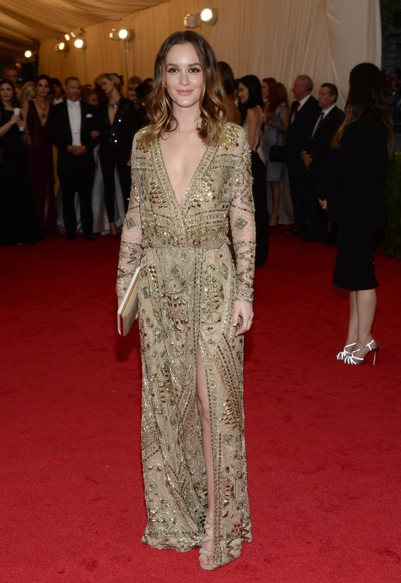 Leighton Meester at The Met Ball