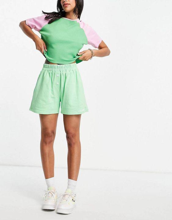 COLLUSION boxer shorts in neon green | ASOS