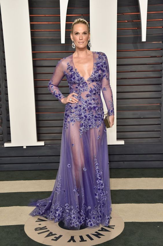Pin for Later: The Best Afterparty Looks of Oscars Night Are All Right Here Molly Sims Wearing a Tadashi Shoji gown and Loeffler Randall heels.