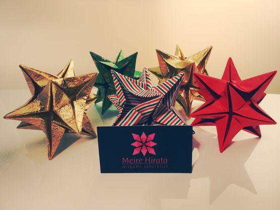 Star Origami <3 Christmas/ Natal  http://www.meirehirata.com/