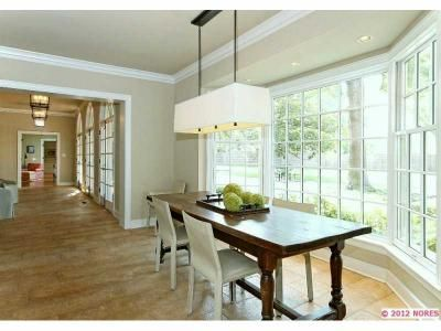 Clean, modern lines in this dining area. www.cctulsa.com