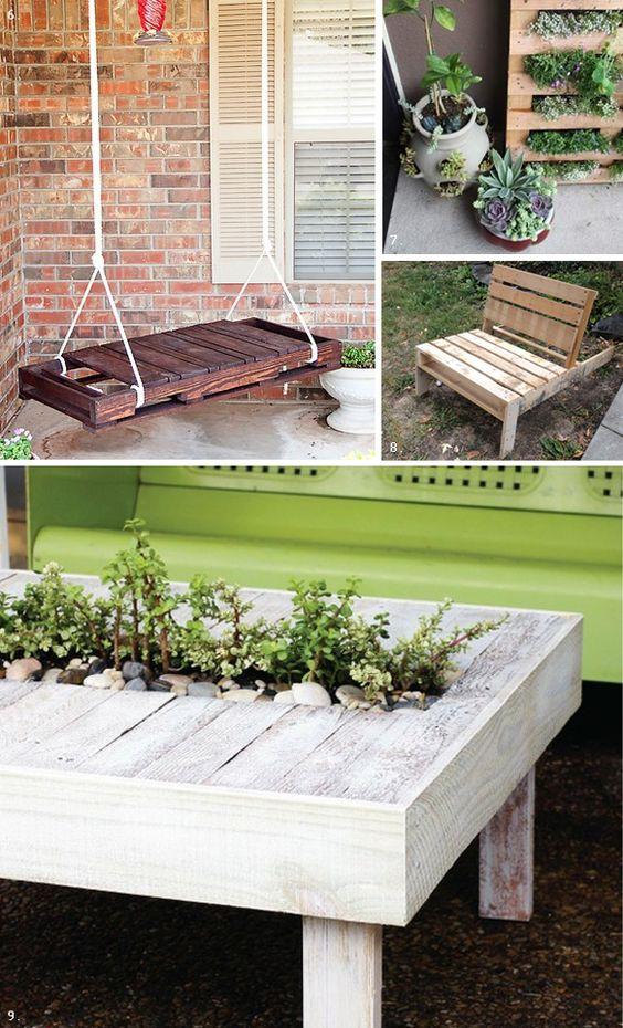 Diy palette exterieur sokeen bancs en bois pinterest for Exterieur palette
