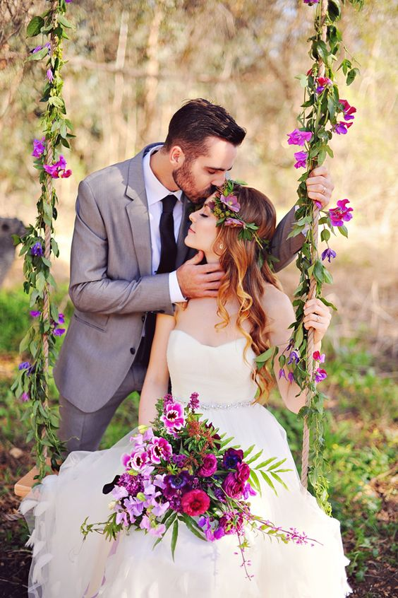 romantic wedding inspiration, photo by Arina B Photography http://ruffledblog.com/purple-inspired-wedding-ideas #weddingideas #weddinginspiration: