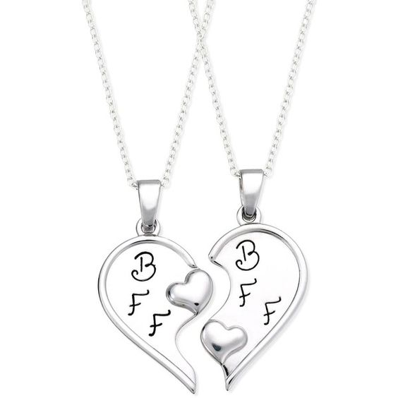 """Giani Bernini Sterling Silver Necklace Set, """"Best Friends Forever"""" Two-Piece Pendant Set $140"""
