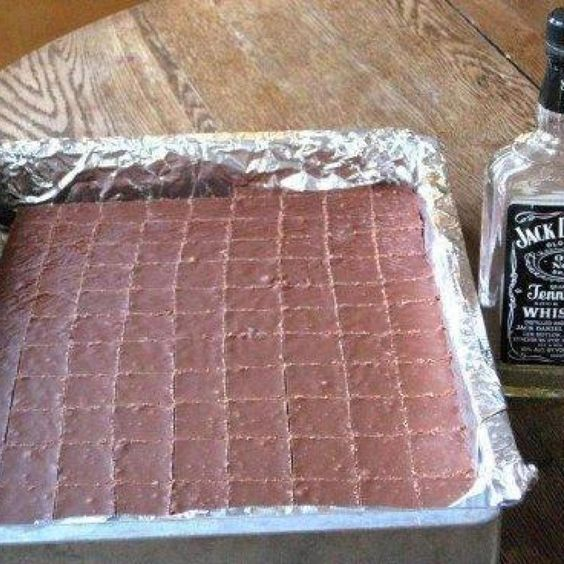 JACK DANIEL'S FUDGE. Definitely making this for the holidays this year.