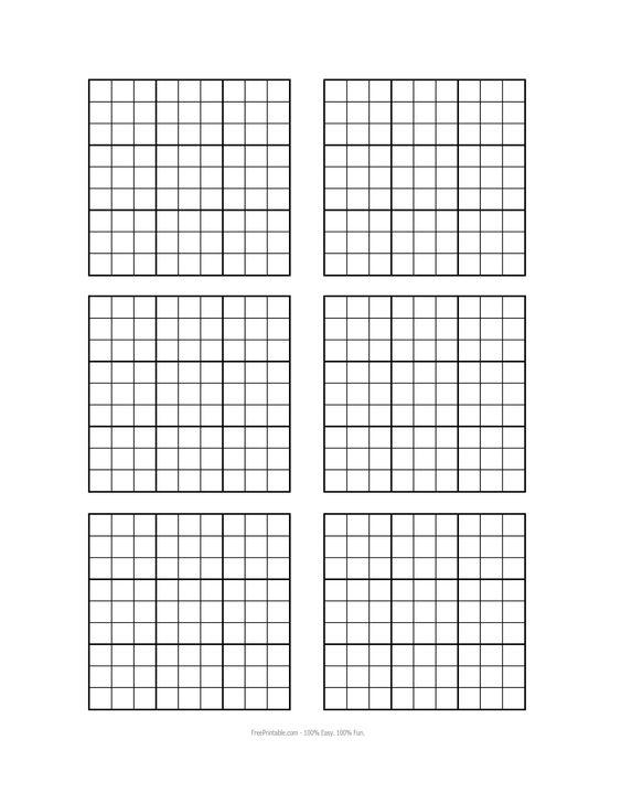 Resource image for blank sudoku grid printable