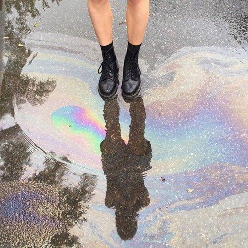 . #alternative #drmartens #rainbow #black #water #indie #grunge #L4L #FF #F4F #followback #instafollow