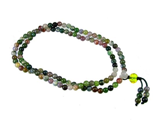 Indian Agate Meditation / Prayer Mala, 108 - 4mm Beads #mal103