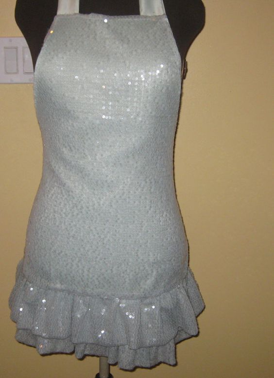 Sequin hostess Apron by byemilyrose on Etsy, $85.00