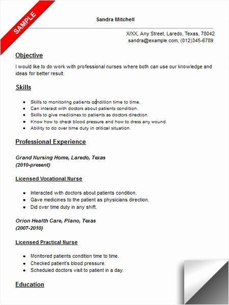 Free Resume Templates For Lpn Nurses Lpn Resume Rn Resume Rn Resume Template