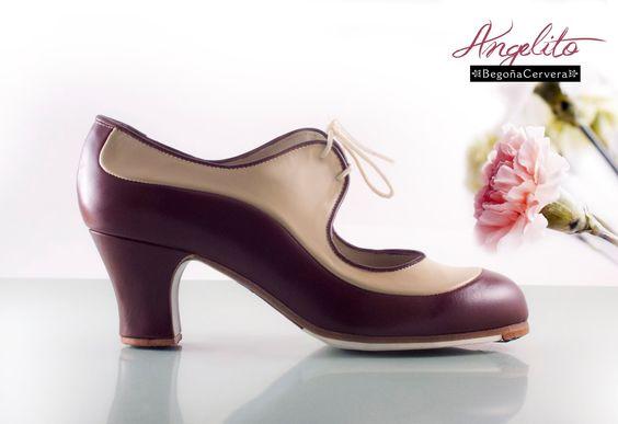 https://www.tamaraflamenco.com/es/zapatos-de-flamenco-profesionales-4 Zapato profesional de flamenco Begoña Cervera Modelo burdeos y camel