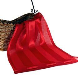 Red Stripe Silky Scarf