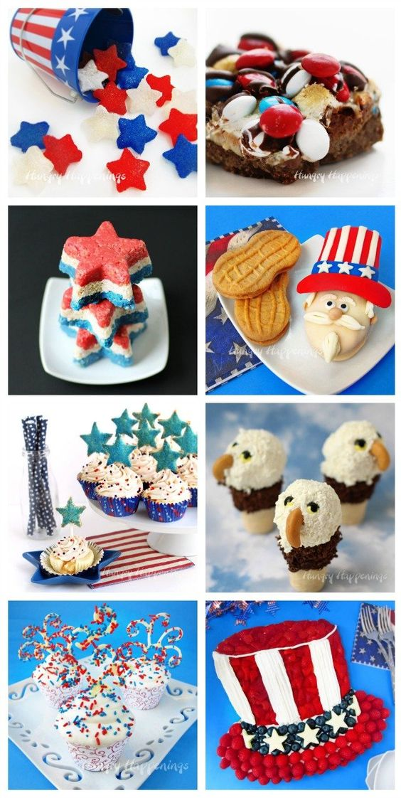 Red, White, and Blue Cupcakes Served in Goblets