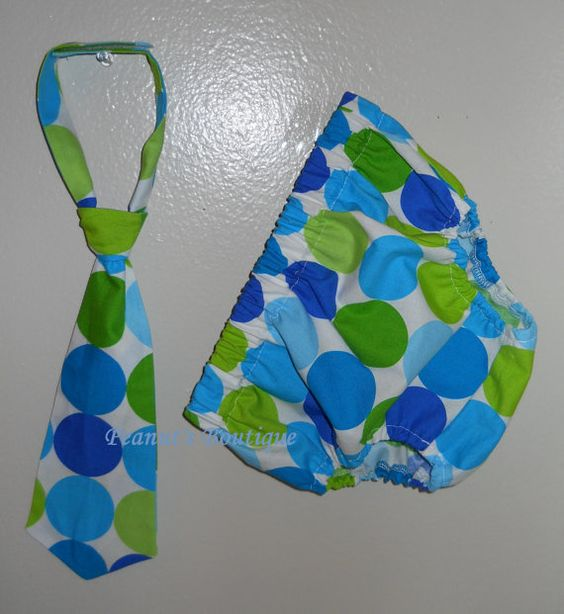 Baby Boy Toddler First Birthday Diaper Cover and Tie Outfit in MM Caribe Lime Disco Dot NB - 24M Photo Prop. $28.50, via Etsy.