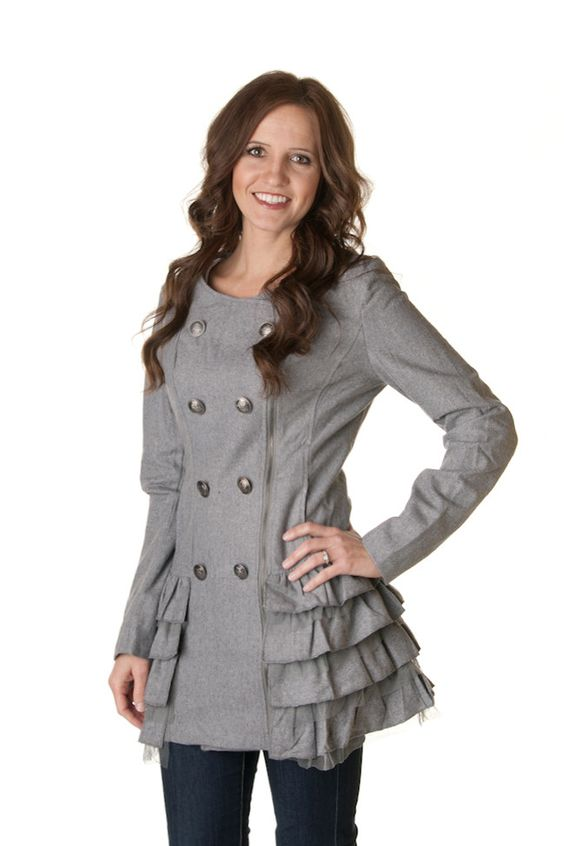 Ruffle Pea Coats - 3 colors