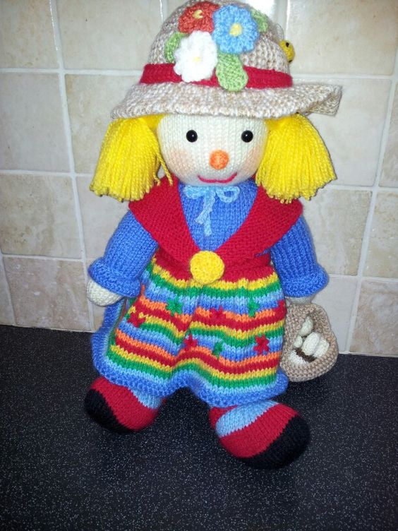Knitting Patterns Toys Jean Greenhowe : Aunt sally by jean greenhowe knitted toys pinterest