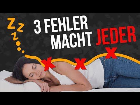 Richtig Schlafen Diese 3 Fehler Machen 90 Aller Menschen Du