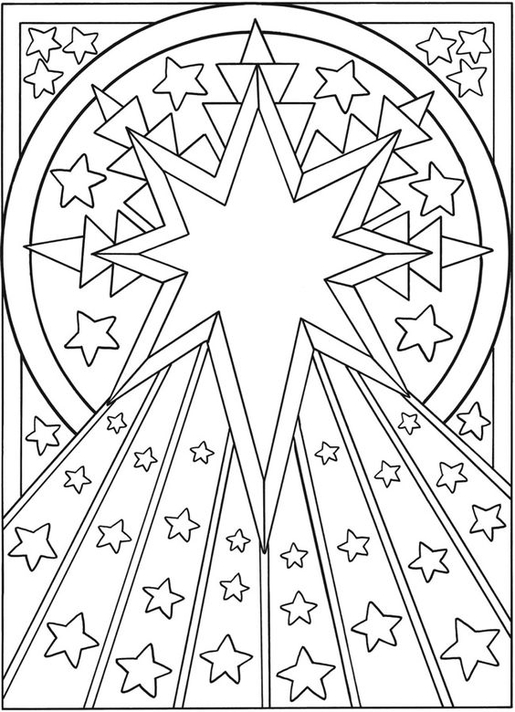 starburst coloring pages - photo#14