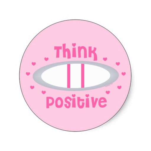 think positive pregnancy test sticker baby makes two