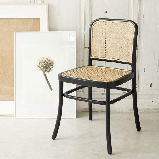 Chaise en bois d'acajou et cannage | Chaise rotin, Meuble