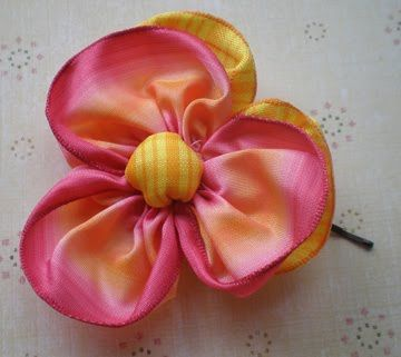 synthetic fabric PANSY DIY TUTE: gift presents for kids: pretty pansy pin tutorial