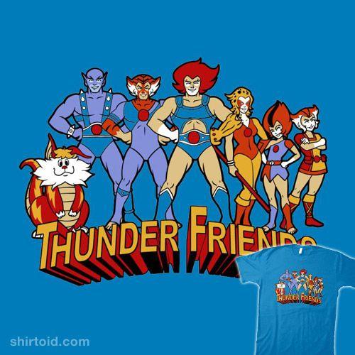 Thundercats T Shirt Animated Series Kids TV 80s Retro Cartoon Lion-O Cheetara