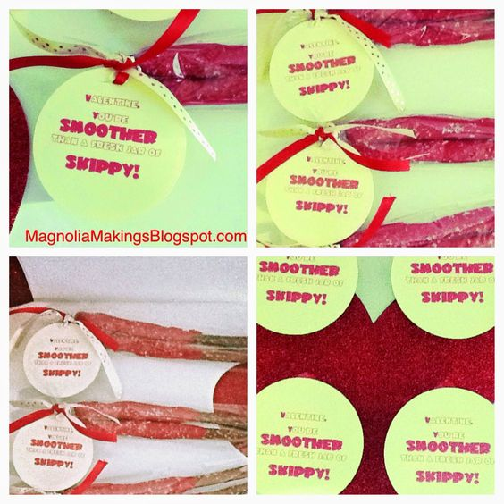 You're Smoother Than a Fresh Jar of Skippy! Follow MagnoliaMakings.blogspot.com for lots of cute ideas!