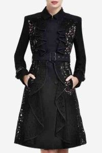 BCBG Emmett Lace Trench Coat