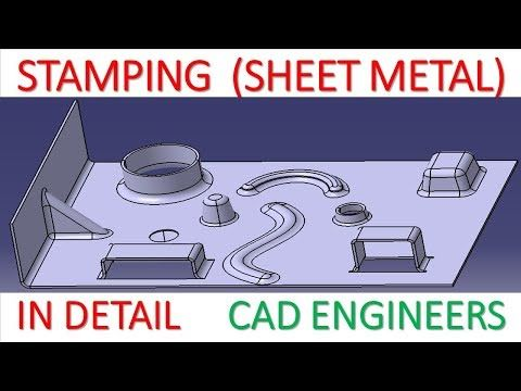 30 Stamping All Type In Sheet Metal In Catia V5 Youtube In 2020 Sheet Metal Sheet Stamp