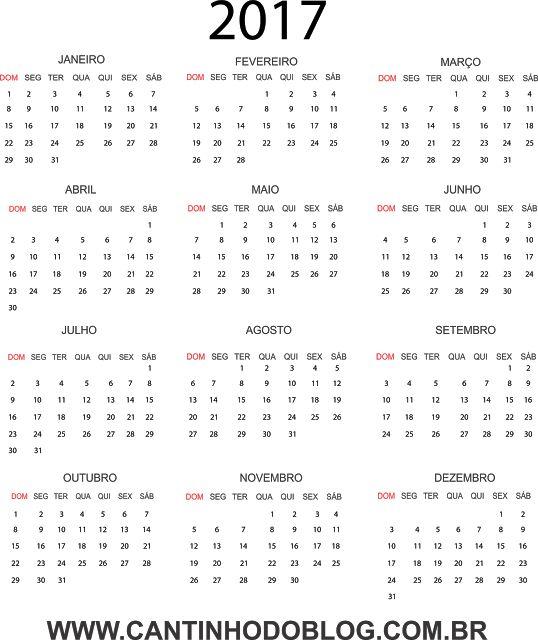 calendario 2017 y 2017 - Calendar