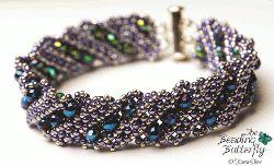Fold Me Up Bracelet Tutorial - Diagonal Faux Right Angle Weave